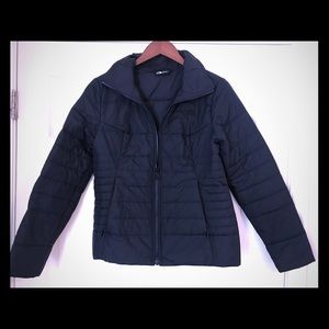 The North Face Navy puffer coat